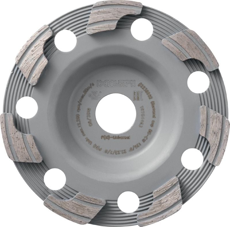 P Universal diamond cup wheel Standard diamond cup wheel for angle grinders – for faster grinding of concrete, screed and natural stone