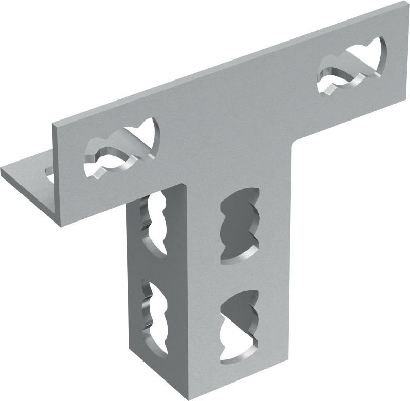 MQV-3/2 D Galvanized flexible channel connector for two-dimensional structures